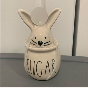 PRICE FIRM New Rae Dunn Easter sugar bunny